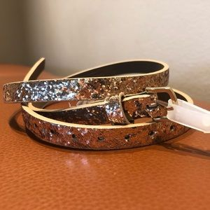 Gold Sequins Belt